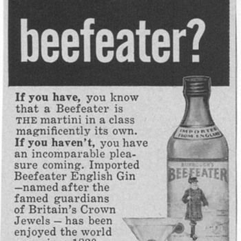 1955 Beefeater Gin Advertisement