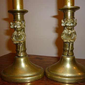 British 1930's candle sticks