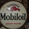 Gargoyle Mobiloil Socony Vacuum Doublesided Lollipop sign without base