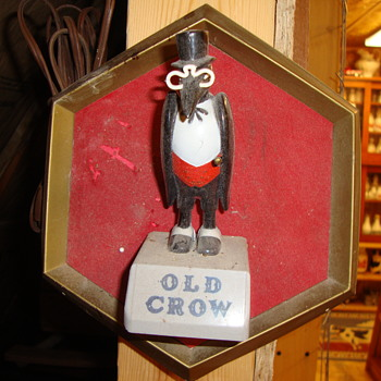Old Crow Whiskey Wall Plaque....... - Breweriana