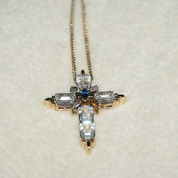 Sterling Vermeil Cross - Needs Repair - Fine Jewelry