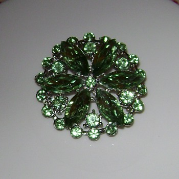 Brilliant Brooch - Costume Jewelry