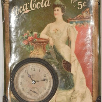 Lillian Nordica Coca-Cola Clock