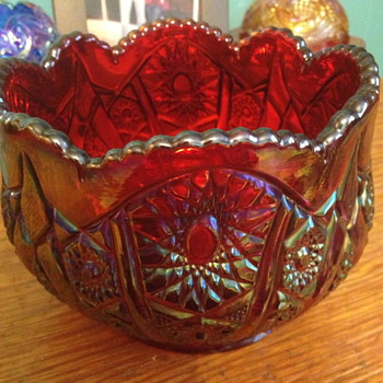 Carnival glass bowl  - Glassware