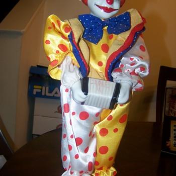 Porcelain Wind Up Clown