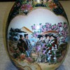 Japanese Ceramic Painted    Shaped Egg