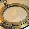 Brass porthole.
