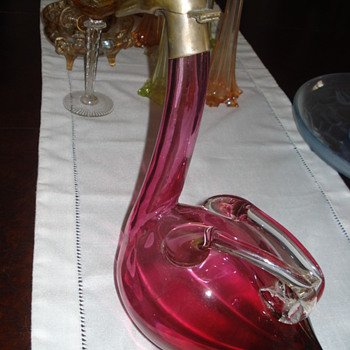Austrian Goose Glass Decanter made by Palda Haida