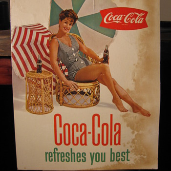  Coca-Cola Cardboard Signs - Coca-Cola