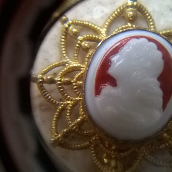 For freiheit----> A Cameo Stick Pin From Czechoslovakia...Well..From The Flea Market Today! LOL  - Costume Jewelry