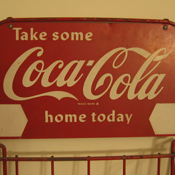 1950&#039;s Coca-Cola Six-pack Display Rack