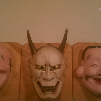 Japanese Masks from my grandfather