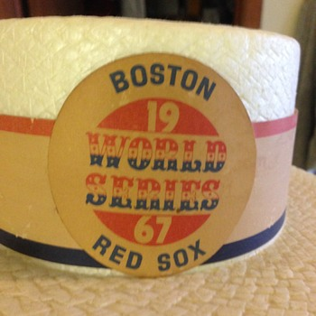 1967 Red Sox World series hat - Baseball