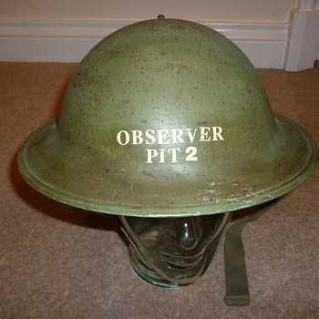 British WW11 Observer Corps helmet