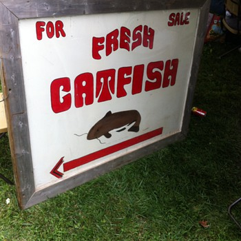 Fresh Catfish For Sale - Folk Art