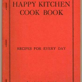 "1920's - ""Happy Kitchen Cook Book"" - Books"