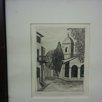 PIERRE RENOIR's ETCHING (1988) - Posters and Prints