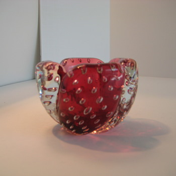 Small red Murano bowl