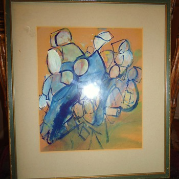 Watercolor from thrift store interesting? older frame? need help!