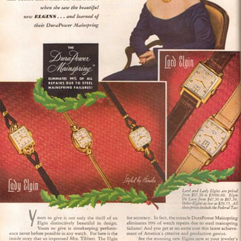 1948 - Elgin Watches Advertisement