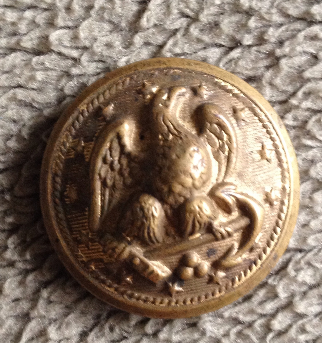 Antiques Us: Antique Military Button Please Help ID WW1??