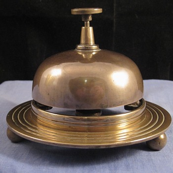 Very Unusual Art Deco Era Bronze/Brass Reception Counter Bell
