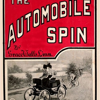 QUESTION..  IS THIS THE EARLIEST AUTOMOBILE SHEET MUSIC POSSIBLE?, 1899 AUTOMOBILE SPIN - Music