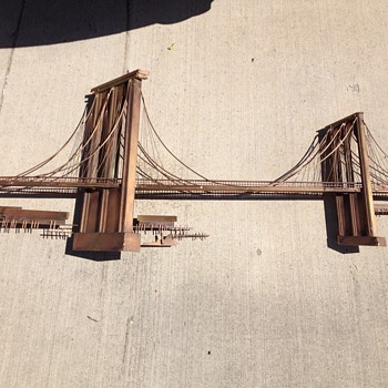 Copper Brooklyn Bridge sculpture Curtis Jere  - Visual Art
