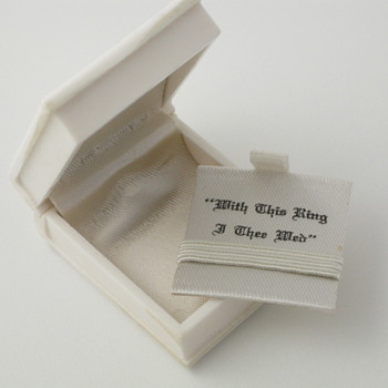 white book ring box - Fine Jewelry
