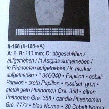 COBALT CISELE LOETZ ID: II-168 - Art Glass