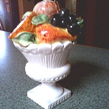 Delectable Italian Majolica Fruit Topiary/Marked Italy 36-1286 / Circa 1950's-60's