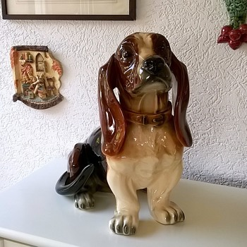 Gigantic JEMA HOLLAND Bassett Hound Garage Sale Find $5.00 - Figurines