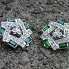 Sarah Coventry Earrings - Emerald Ice
