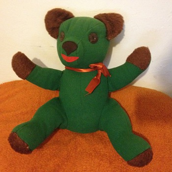 Able to identify this beautiful old green bear?