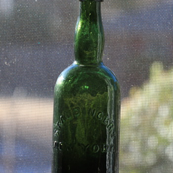 ***Old Pontiled Black Glass Beer Bottle*** - Bottles