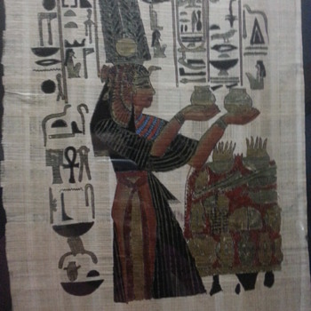 Cool Egyptian Scene Sign Art - Folk Art
