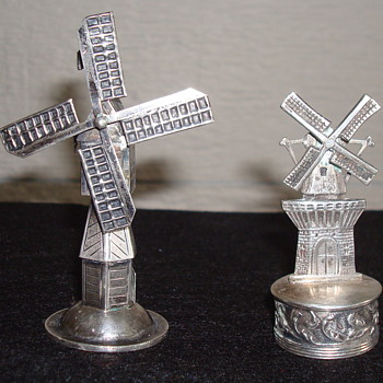 Dutch Windmill ...not sure what they are - Sterling Silver