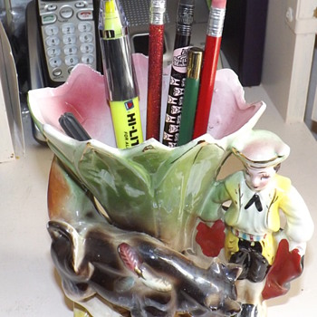 MATADOR VASE... NO BULL... I MEAN WITH BULL... REALLY!! - Art Pottery