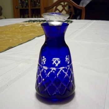Cobalt to clear perfume bottle - Bottles