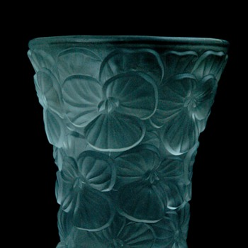bohemian glass vase with floralpattern  by JOSEF INWALD for BAROLAC