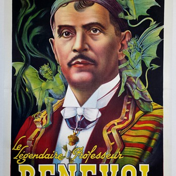 Original Benevol Stone Lithograph Magic Poster