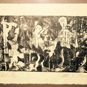 "Litho print titled ""celebration"""