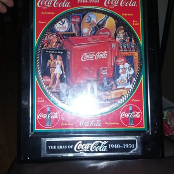 The Eras of Coca-Cola 1940-1950.. Plaque..