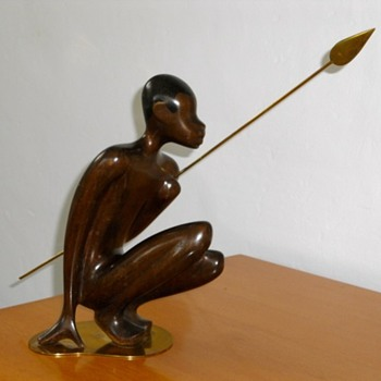 J SCHOENER WIEN AUSTRIAN AFRICAN STYLE SCULPTURE - Art Deco
