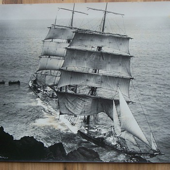 1912 Old Ship photo  - Gunvor-Lizard -   by Gibson photographer.