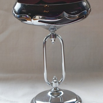 Unusual Farber Brothers compote - Art Deco