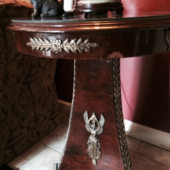 Antique Table and Lamp - Victorian Era