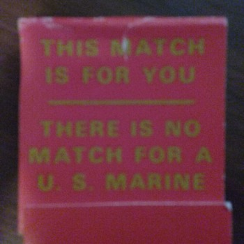 U.S. Marine matchbook