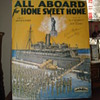 Sheet Music Cover...All Aboard For Home Sweet Home...Sign By One Of The Prolific Starmer Brothers