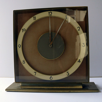 Junghans Meister / Art Deco Desk Clock / Germany 1930s -40s